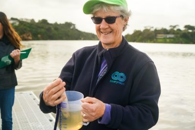 Dina Selman has been monitoring the water quality of the Hopkins River with the Hopkins River EstuaryWatch group for seven years